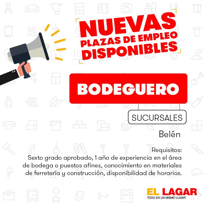 El Lagar requiere contratar Bodegueros, Misceláneos, Pasilleros, Cajeros, Vendedores. 3