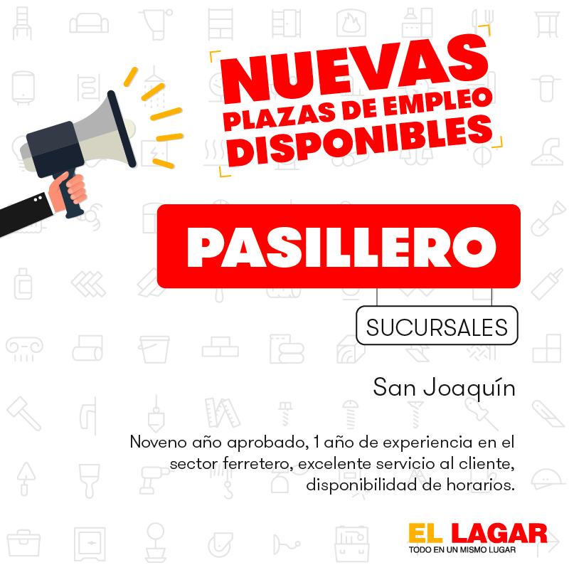 El Lagar requiere contratar Bodegueros, Misceláneos, Pasilleros, Cajeros, Vendedores. 2