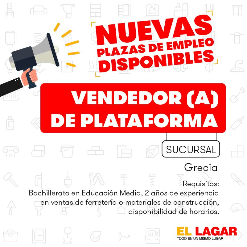 El Lagar requiere contratar Bodegueros, Misceláneos, Pasilleros, Cajeros, Vendedores. 4