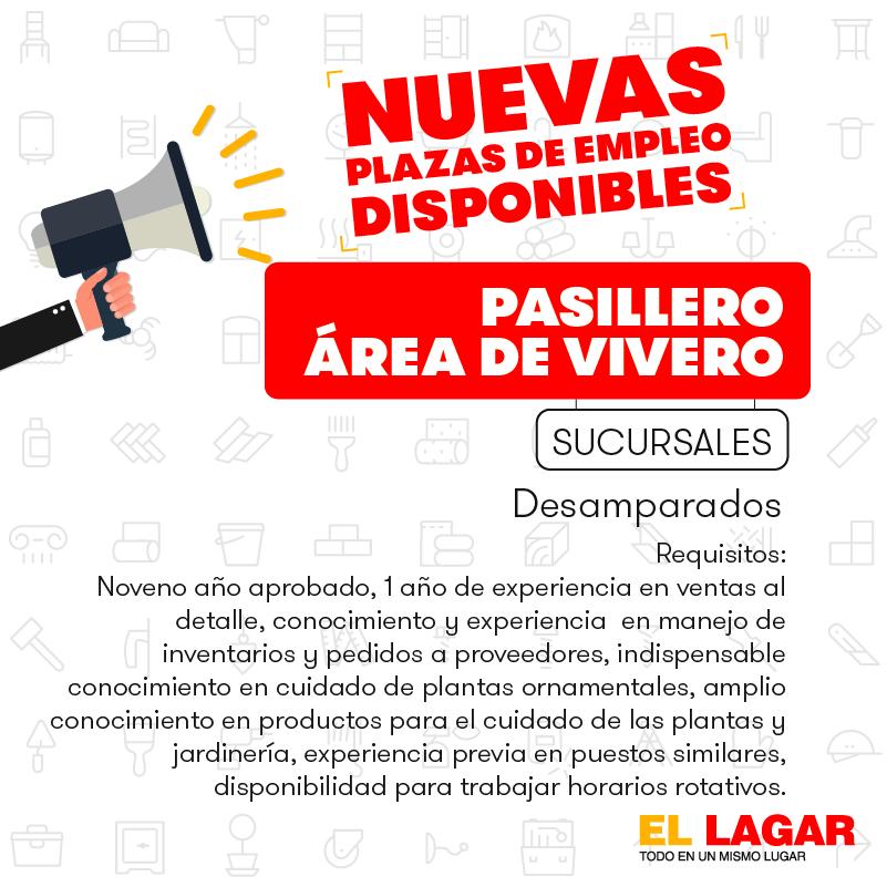 El Lagar requiere contratar Bodegueros, Misceláneos, Pasilleros, Cajeros, Vendedores. 6