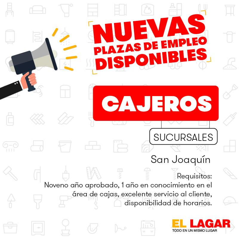 El Lagar requiere contratar Bodegueros, Misceláneos, Pasilleros, Cajeros, Vendedores. 1