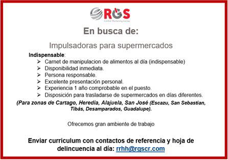 IMPULSADORAS PARA SUPERMERCADOS – San José, Heredia, Alajuela y Cartago 1