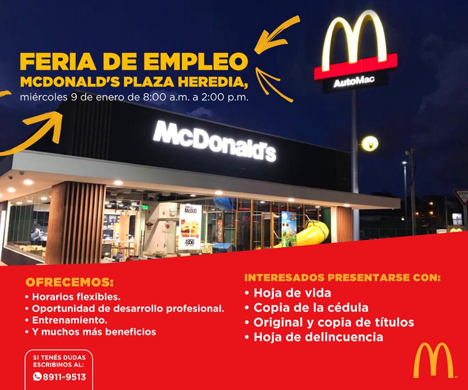 Feria de Empleo McDonald´s en Heredia 1