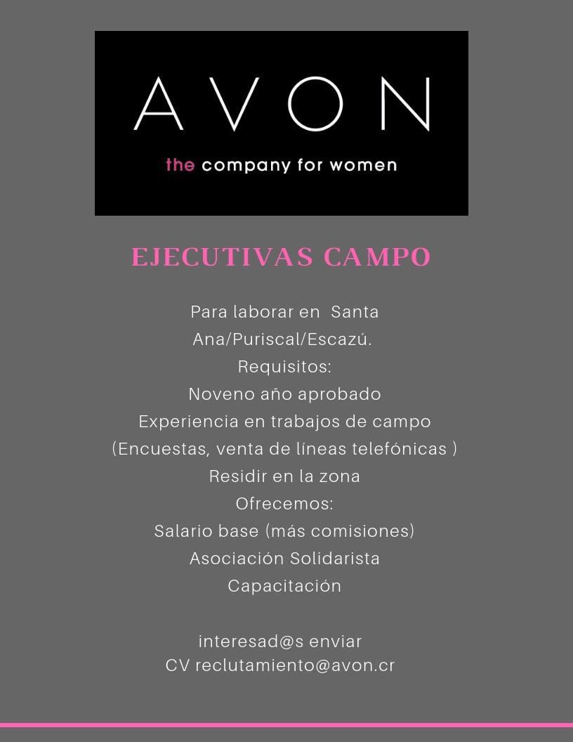 Ejecutivas de Campo requiere contratar Avon 1