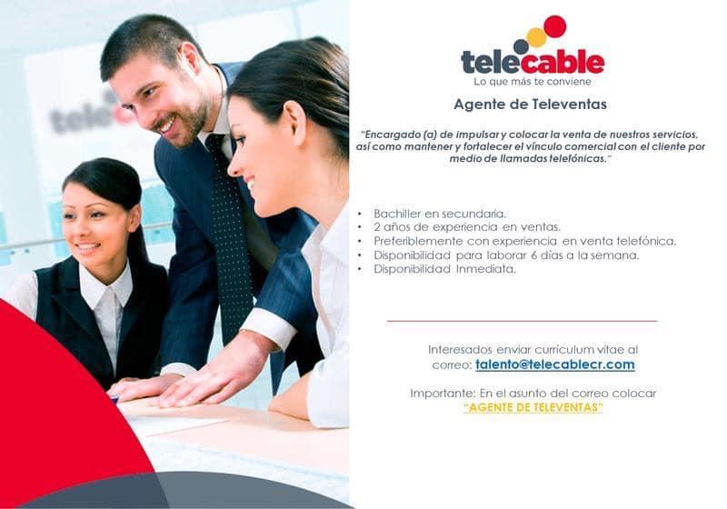 Se requiere personal para Agente de Televentas - Telecable 1